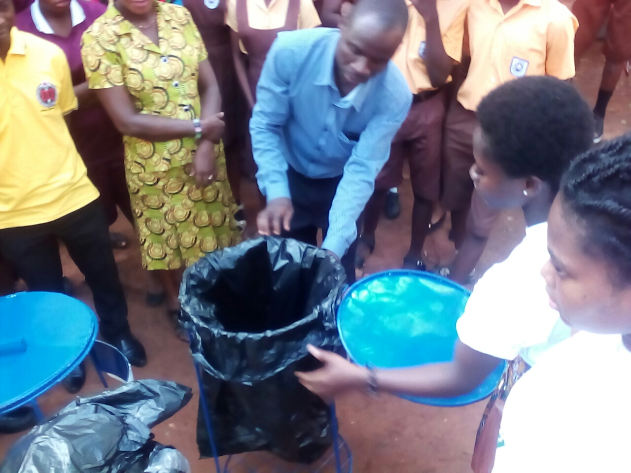 Legon Presec And Co Welcomes The B-Park of Recycle Up! Ghana
