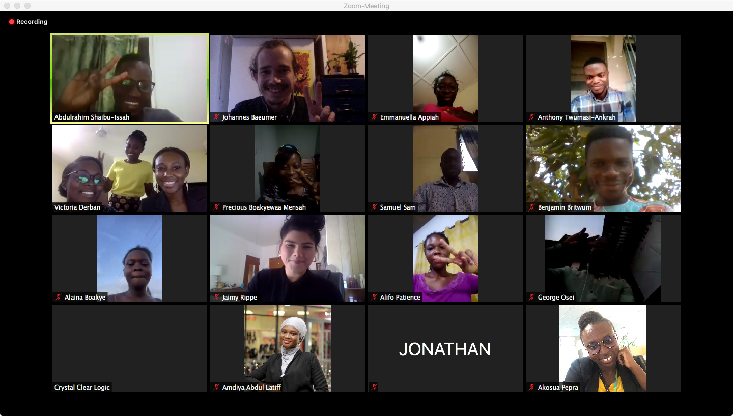 Participants of our legal training in a zoom meeting session
